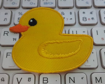 Duck Iron on patch - Duck Applique Embroidered Iron on Patch