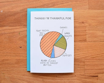 Funny thank you cards, thank you for best friend, best friend cards, thank yous, best friend thank you card, funny thank you card, pie chart