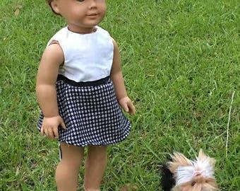 18 inch doll Preppy Dress