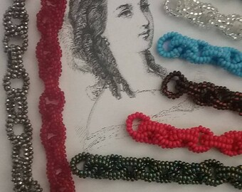 19th Century Civil War 1860 Reproduction Bead Bracelet