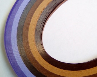 120 39cmx3mm purple quilling paper strips