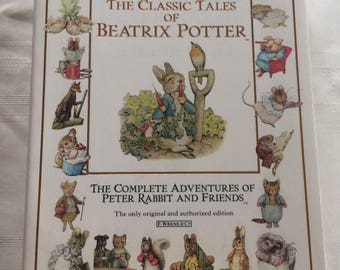 Vintage The Classic Tales of Beatrix Potter Large Book Peter Rabbit