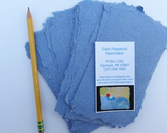 Ten sheets of 3 x 5 inch Denim paper