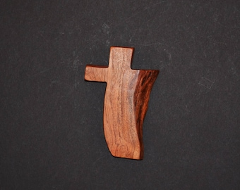 "Wooden Wall Cross;Unique Cross-3""x5""x1"";One Only;Live Edge;Handcrafted;Texas Mesquite Wood;Christian Gift; Free Ground Shipping; cc5-2112917"
