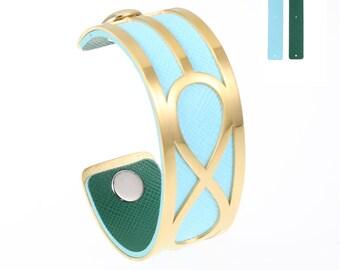 Gold Medium Infinity Cuff Bracelet