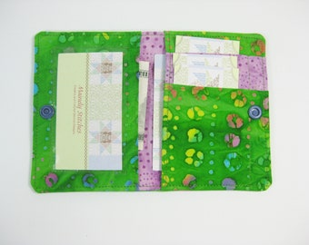 Mini Wallet,  Small Wallet, Green Wallet, Fun Wallet, Credit Card Wallet , Women's Small Wallet, Gift Under 25,Pocket Wallet, Mini Purse