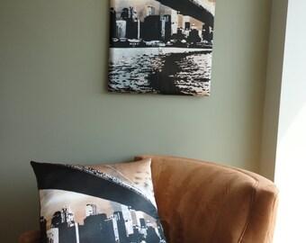 Brooklyn Bridge Pillow