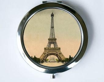 Eiffel Tower Compact Mirror Pocket Mirror  parisian victorian Paris