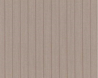 Light Brown Herringbone Suiting, Fabric By The Yard