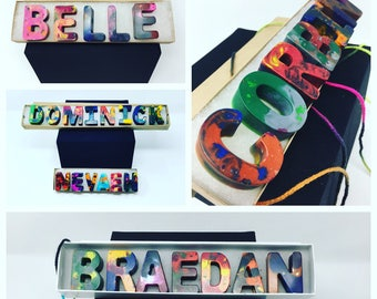 Name Crayons, Crayon Names for Kids,  Crayon letters, Recycled Alphabet Crayons, Personalized Name Crayons, Letter Crayon, Easter Basket