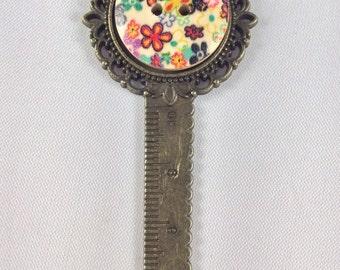 Button bookmark, Button, Craft bookmark, Craft, page minder, brass bookmark, crafters companion