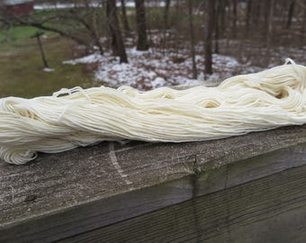 Bare Superwash Merino Worsted Weight Yarn, undyed yarn, dyeable yarn