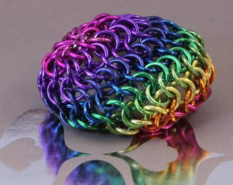 Rainbow Chainmaille Hacky Sack