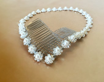 Bridal Headband, Wedding Headpiece, Rhinestone Headband, Hair Tiara, Prom Headband, Flower Girl, Bridesmaid, Hair Accessory