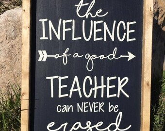 Teacher Appreciation Farmhouse Sign