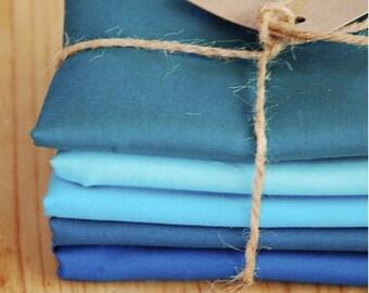 Blue Lagoon - Kona Cotton Solids by Robert Kaufman - Bundle