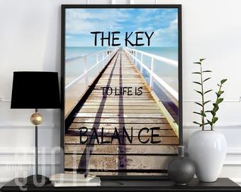 The Key to Life Printable Wall Art