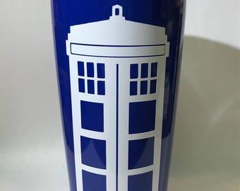 Dr. Who TARDIS Double Wall Tumbler