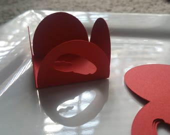 1 or 2 dozen crab lobster CLAW chocolate truffle candy cups baby shower party theme paper cardstock cake pop mini papers red nautical beach