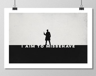 "FIREFLY Inspired Captain Mal Reynolds Minimalist Poster Print - 13""x19"" (33x48 cm)"