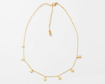 Gold Stars Necklace
