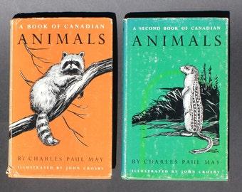 2 Vintage Books on Canadian Animals  1967