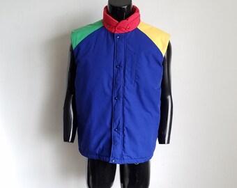 Vintage Colorblock Vest Sz. L