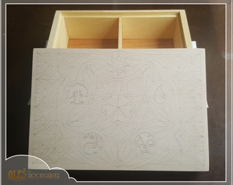 Second payment for Custom carved MTG card box for Alejandro