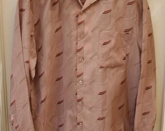 1970's Brown Pattern Shirt