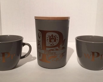 Coffee mugs and Canister Set