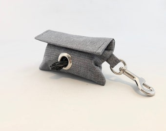 Poop Bag Holder · Dog Bag Holder · Dog Poop Bag Holder · Gray Poop Bag · Dog Owner Gift · Poop Bag Dispenser · Gray Poop Bag Holder ·