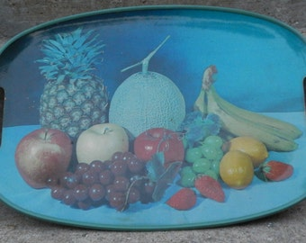 Cool Retro Tray with Fruit Motif!