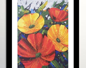 Poppies Painting, Poppies, Flower Painting, Original Painting, Poppies Art, Flowers Art, Floral Art, Poppies Flowers, Palette knife Art