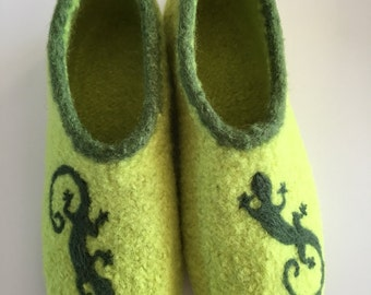 Lizards felt shoes