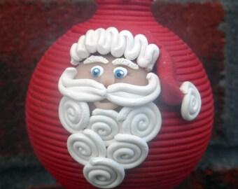 En pâte polymère de père Noël ornement