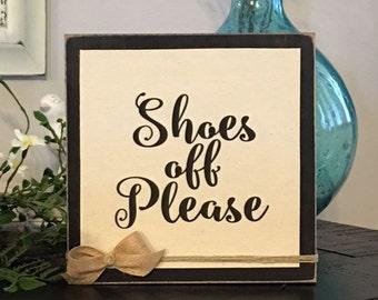 Shoes Off Please,Door Sign,Remove Shoe Sign,Wood Door Sign,Canvas Sign