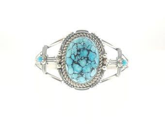 Sleeping Beauty Turquoise Cuff Bracelet Navajo * New