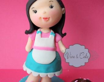 Little Baker   fondant cake topper