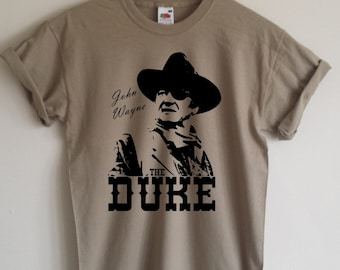 John Wayne 'The Duke' T-shirt, All Sizes/Colours