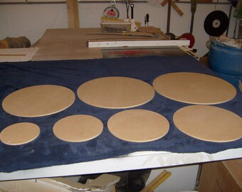 """1/2"""" Thick Round Cake Boards.  Standard and Custom Sizes Available (Starting at 2.84 each)"""