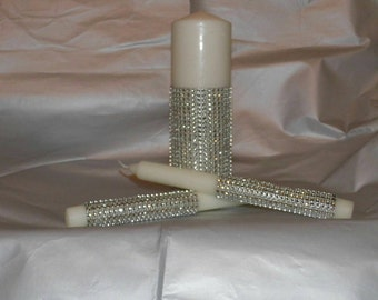 Dazzling Unity Candle Set