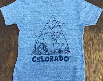Blau/blau Colorado Mountain Shirt