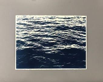 Ocean Cyanotype on Heavy Watercolor Paper