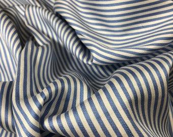 "100% Cotton Stripe 58""w Directional Blue/White"