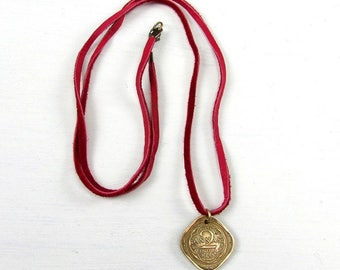 India Coin Necklace | 73rd Birthday Gift | 1945 Coin Necklace | India Coin 1945 | Vintage Square Coin | India Coin | Hot Pink Leather Cord