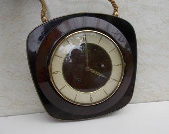 Vintage Silvretta clock  wall clock, vintage mechanical clock, retro wall clock, wood wall clock, working wall clock, kitchen decor