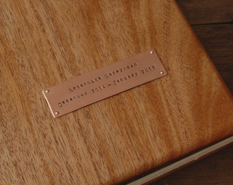 Personalized Hand Stamped Metal Nameplate