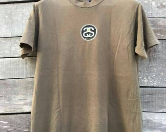 Vintage stussy classic t shirt 90s high fashion street wear supreme
