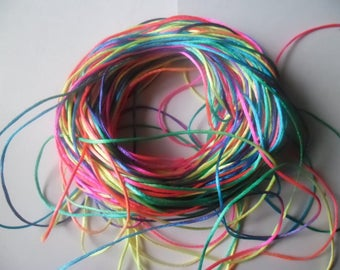 "x 1 meter of multicolored cord ""colors 16"" nylon high quality 2 mm"