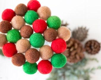 Christmas Wool Felt Ball Flowers. Christmas Flower Arrangements. Pom Pom Flowers. Wool Craspedia. Billy Balls. Billy Buttons. Home Decor